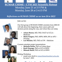 RCMAR CHIME and CTSI Summer 2021 Scientific Retreat – Register Today