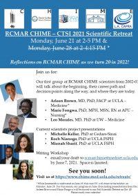 RCMAR CHIME and CTSI Summer 2021 Scientific Retreat