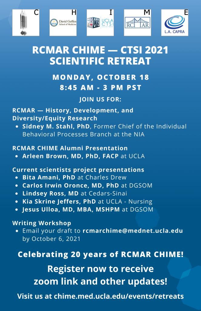 October 2021 Scientific Retreat Flyer