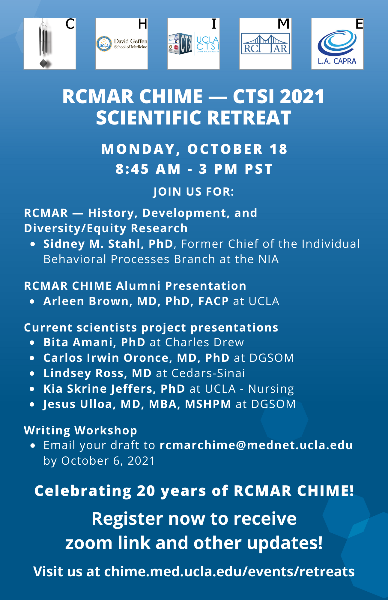 You are currently viewing Register for the RCMAR CHIME and CTSI 2021 Fall Scientific Retreat