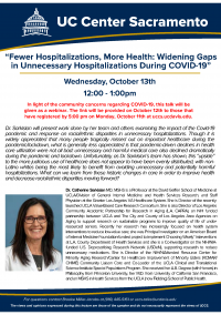 Fewer Hospitalizations, More Health: Widening Gaps in Unnecessary Hospitalizations During COVID-19
